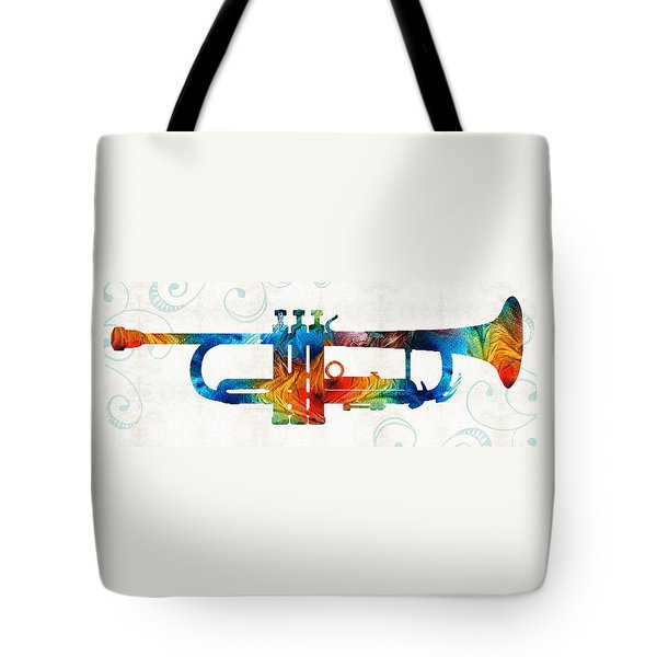 Colorful Trumpet Art Color Fusion By Sharon Cummings Tote Bag by Sharon Cummings