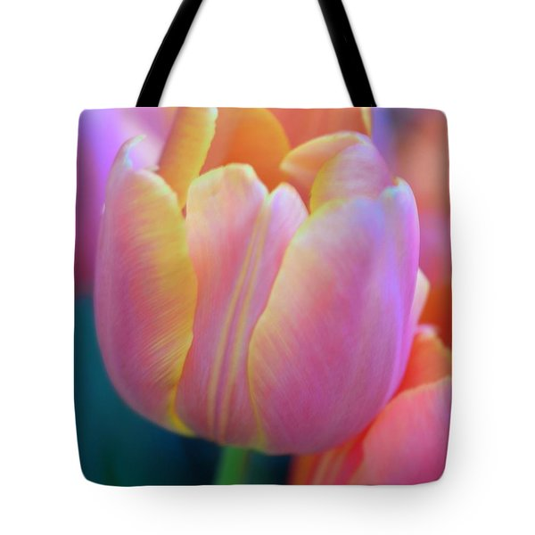 Colorful Tulip Tote Bag by Kathleen Struckle