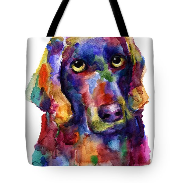 Colorful Weimaraner Dog Art Painted Portrait Painting Tote Bag by Svetlana Novikova