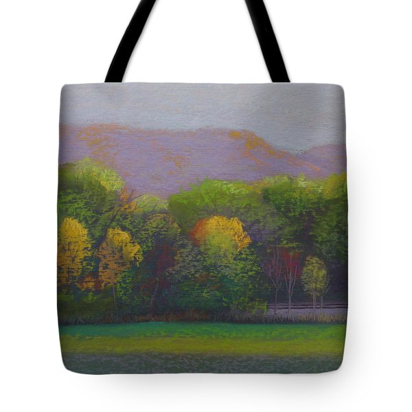 Colors By The Tracks Tote Bag by Sherri Anderson