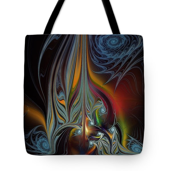 Colors In Motion-fractal Art Tote Bag by Karin Kuhlmann