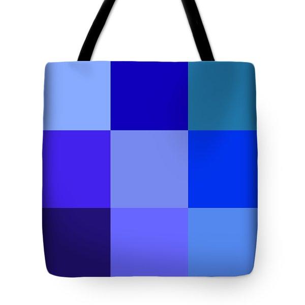 Colors Of Blue Tote Bag by Karon Melillo DeVega