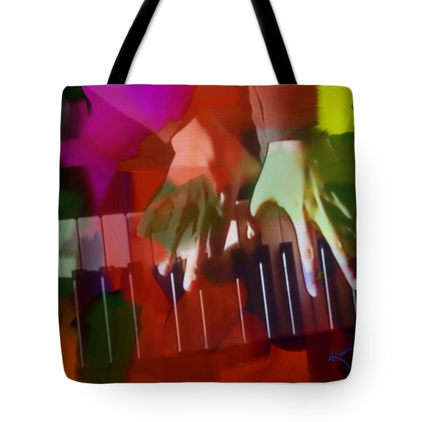 Colors Of Music Tote Bag by Kume Bryant