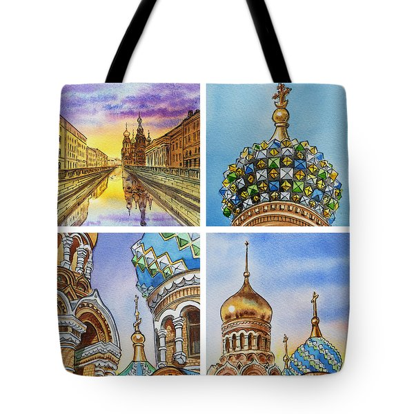 Colors Of Russia Church Of Our Savior On The Spilled Blood  Tote Bag by Irina Sztukowski