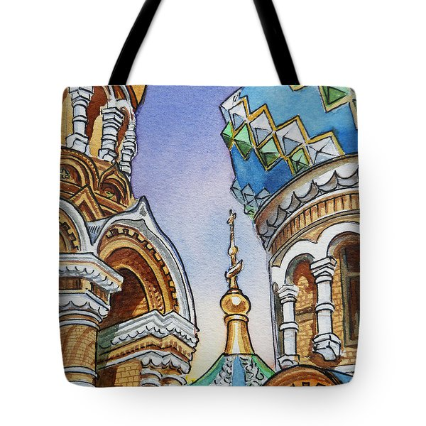 Colors Of Russia St Petersburg Cathedral II Tote Bag by Irina Sztukowski