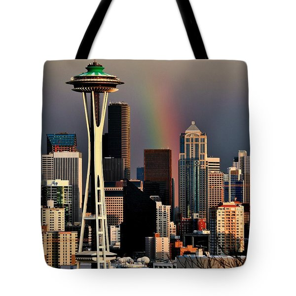 Colors Of Seattle Tote Bag by Benjamin Yeager