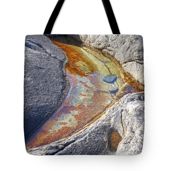 Colors on rock Tote Bag by Heiko Koehrer-Wagner