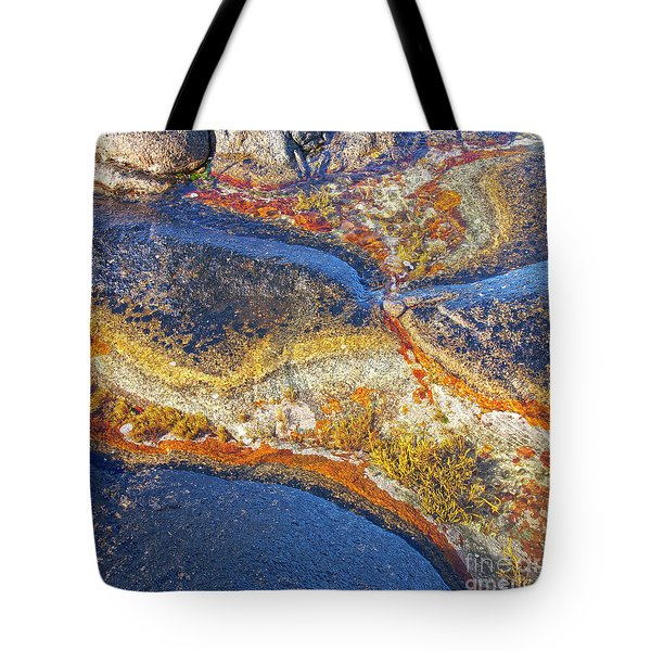 Colors on rock I Tote Bag by Heiko Koehrer-Wagner