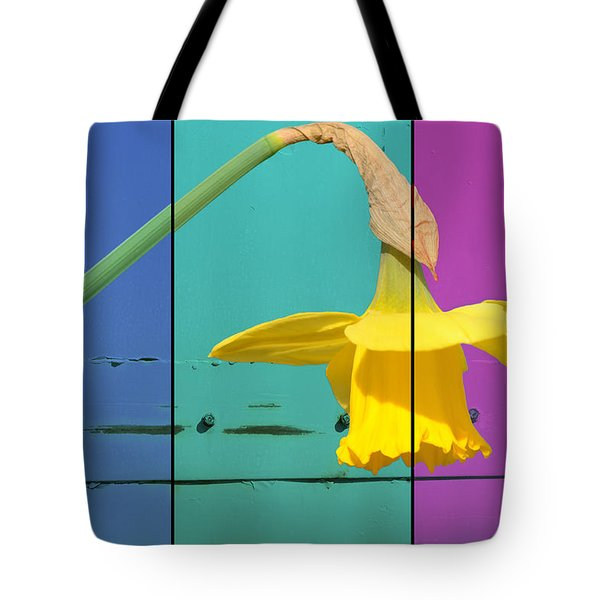 Colour Blocking Spring Tote Bag by Lisa Knechtel