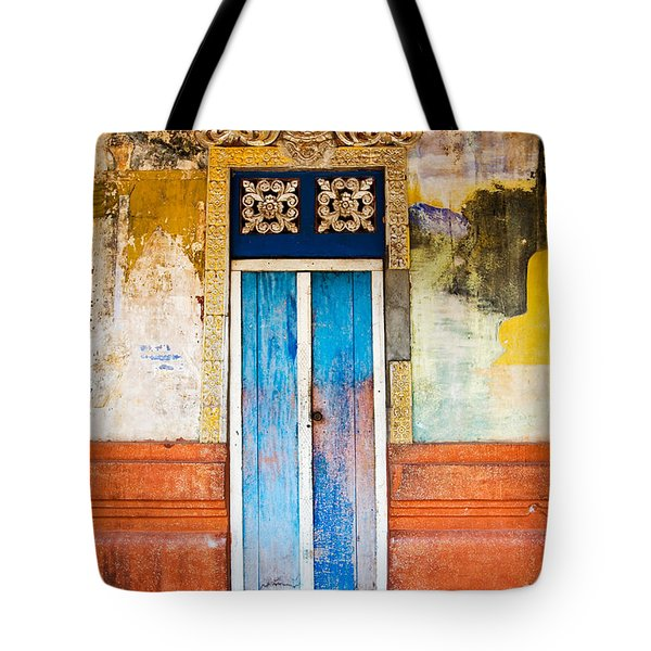Colourful Door Tote Bag by Dave Bowman