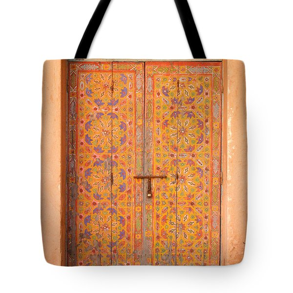 Colourful Entrance Door Sale Rabat Morocco Tote Bag by Ralph A  Ledergerber-Photography