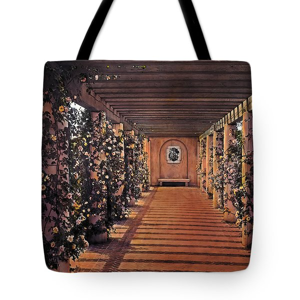 Columns And Flowers 2 Tote Bag by Terry Reynoldson