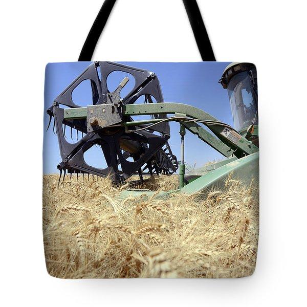 Combine harvester  Tote Bag by Shay Fogelman