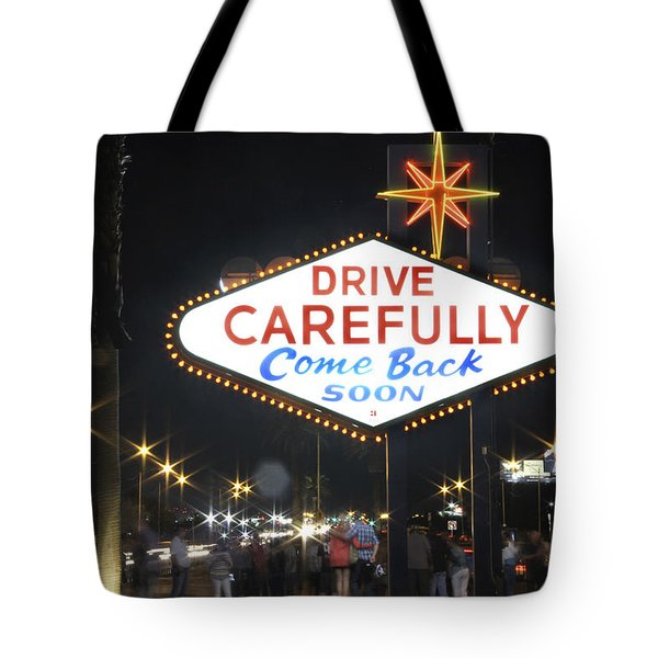 Come Back Soon Las Vegas  Tote Bag by Mike McGlothlen
