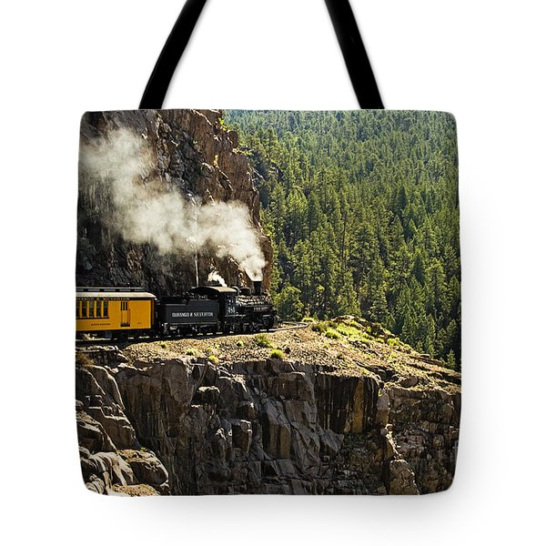 Coming Around The Bend Tote Bag by Scott Pellegrin