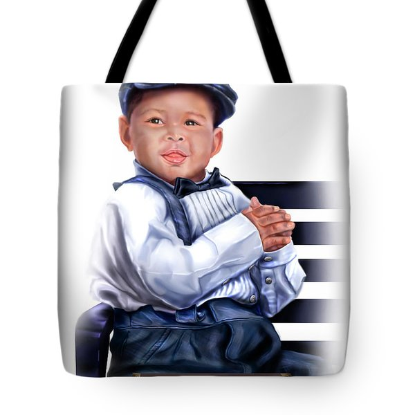 Commissioned - Handsome Baby Boy 1a Tote Bag by Reggie Duffie