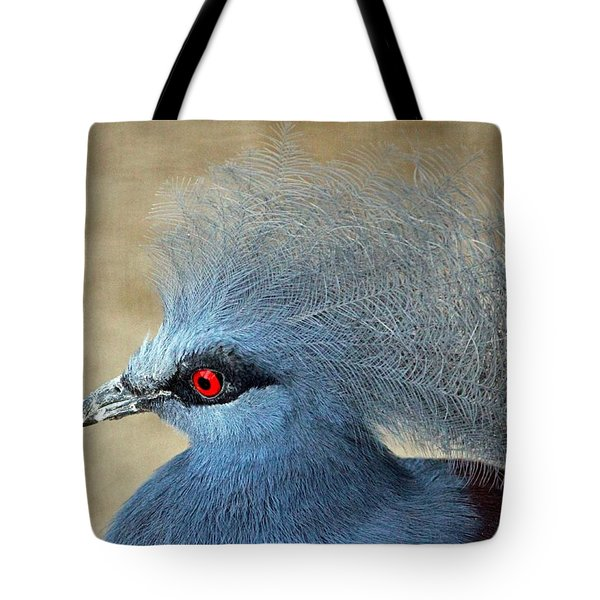 Common Crowned Pigeon Tote Bag by Cynthia Guinn