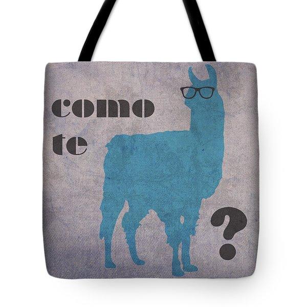 Como Te Llamas Humor Pun Poster Art Tote Bag by Design Turnpike
