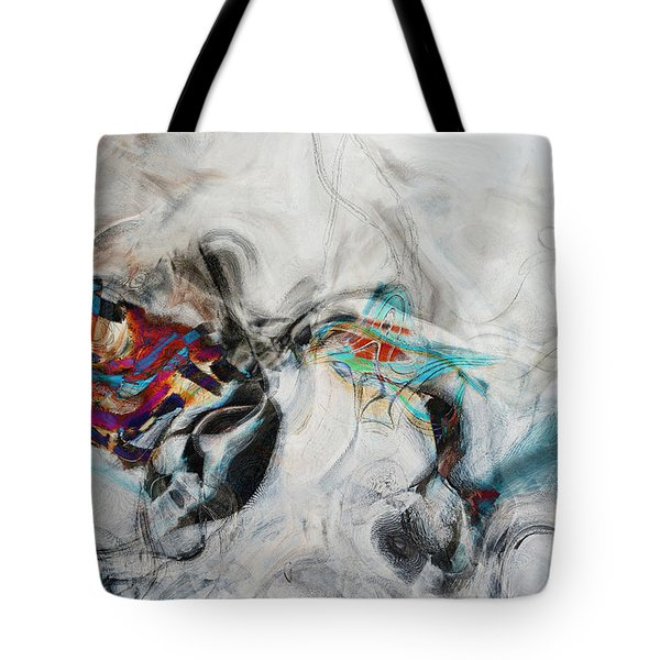 Composition On White Tote Bag by Andrada Anghel