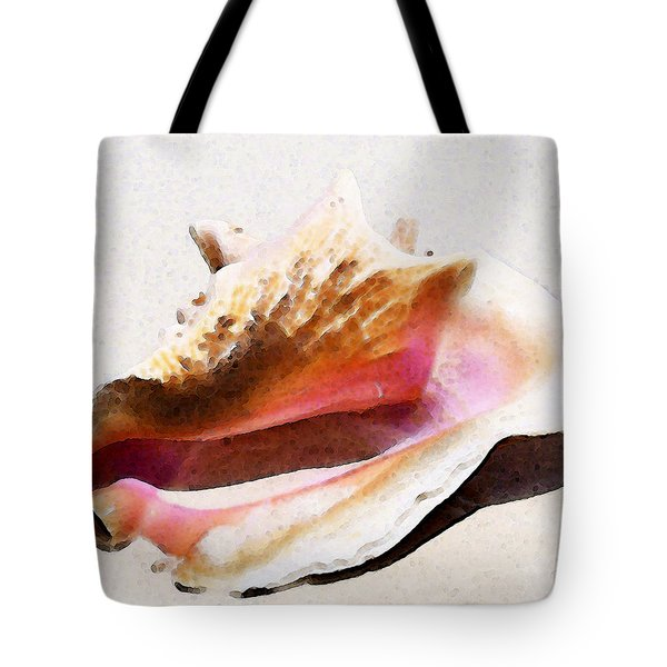 Conch Shell - Listen Tote Bag by Sharon Cummings