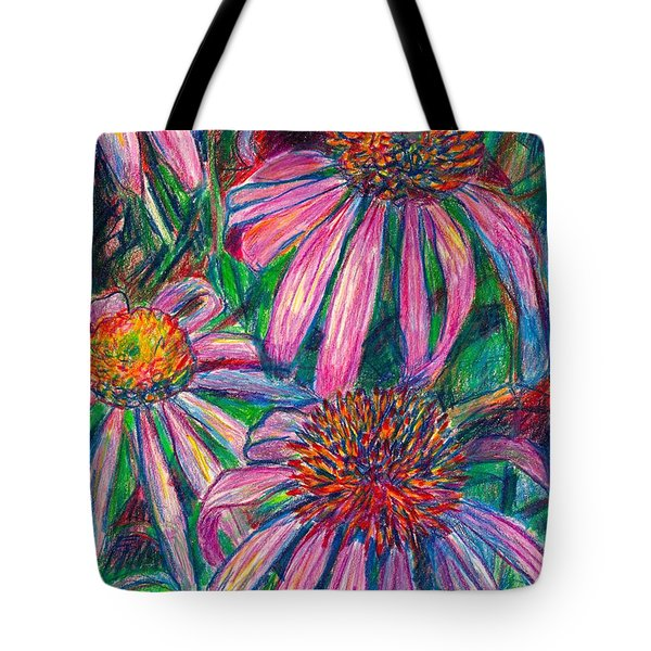 Coneflower Twirl Tote Bag by Kendall Kessler