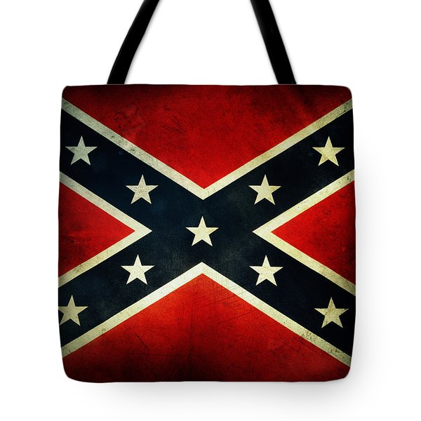 Confederate flag Tote Bag by Les Cunliffe