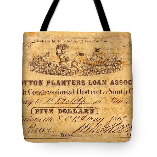 Confederate Money 10 Tote Bag by Todd and candice Dailey