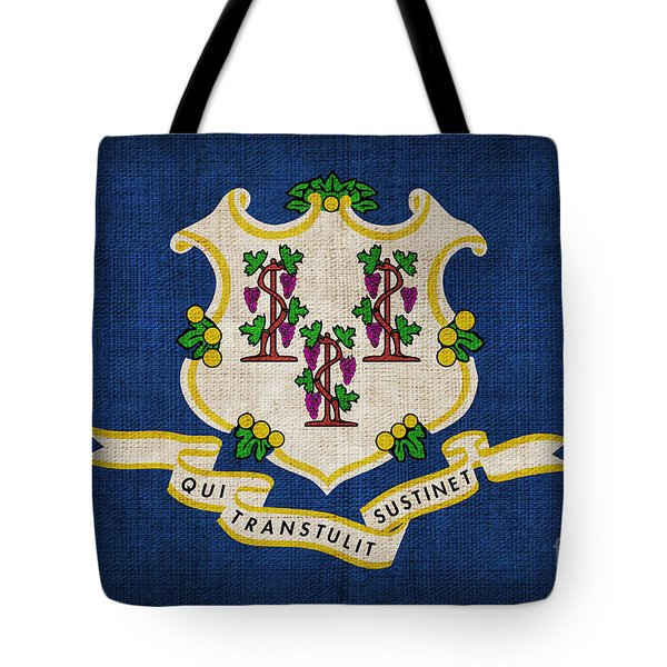 Connecticut State Flag Tote Bag by Pixel Chimp