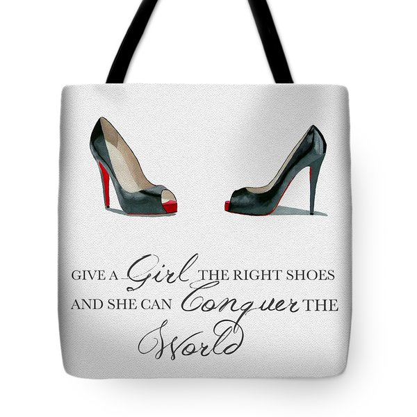 Conquer The World Tote Bag by Rebecca Jenkins