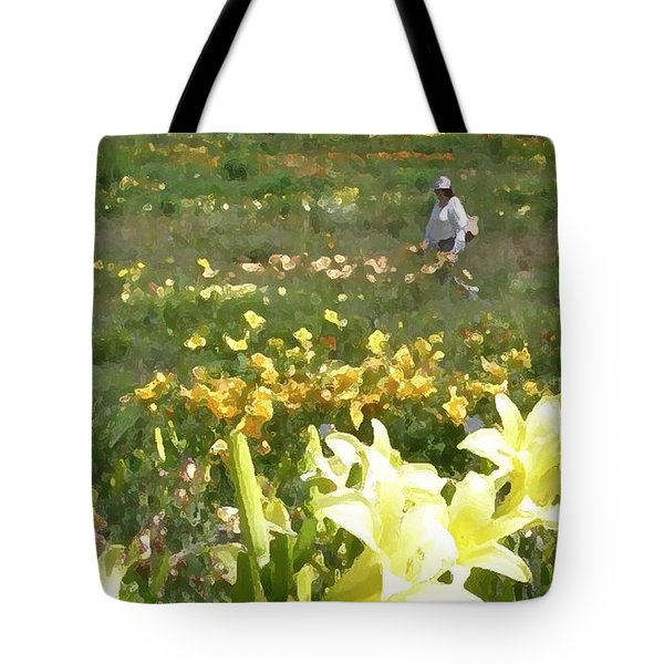 Consider The Lilies Of The Field Tote Bag by Jean Hall