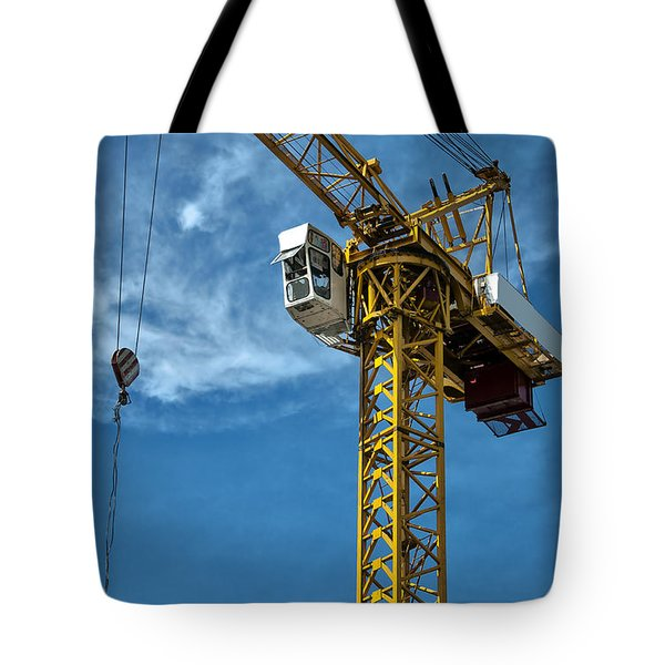construction crane asia Tote Bag by Antony McAulay