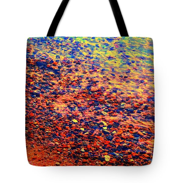 Contemplate The Waters Edge Tote Bag by Ann Johndro-Collins