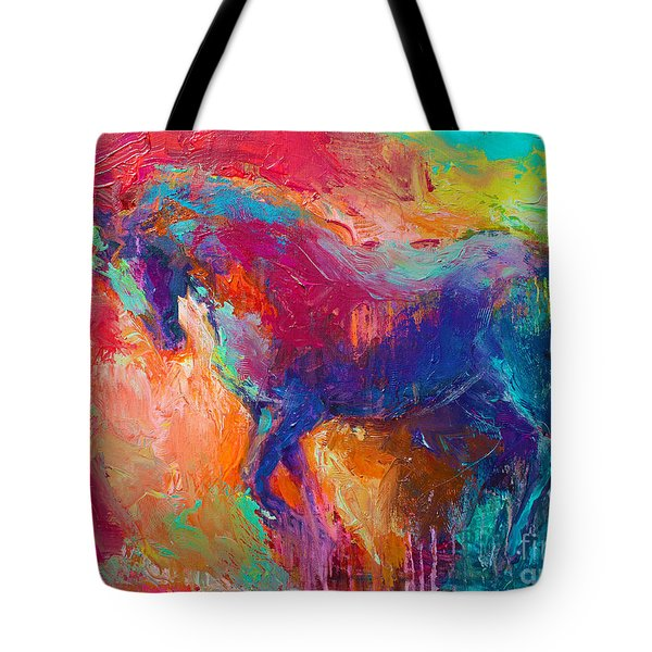 Contemporary vibrant horse painting Tote Bag by Svetlana Novikova