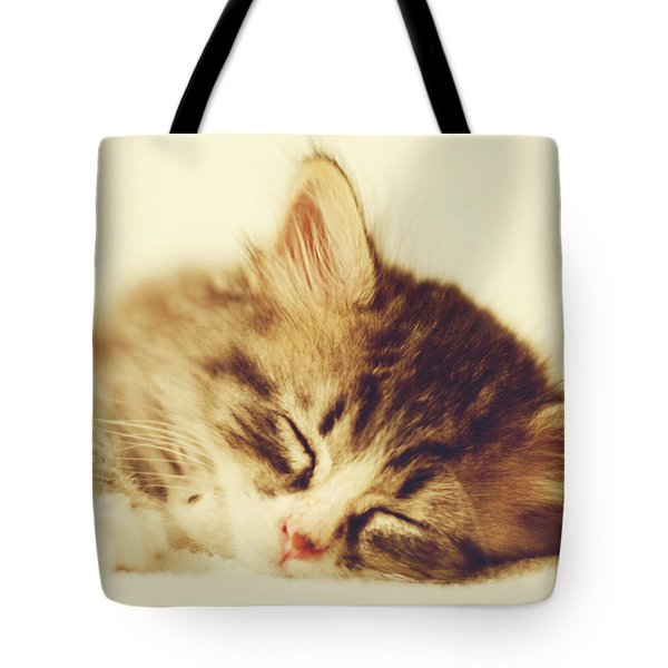 Content Kitty Tote Bag by Pam  Holdsworth