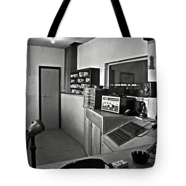 Control Room In Alcatraz Prison Tote Bag by RicardMN Photography