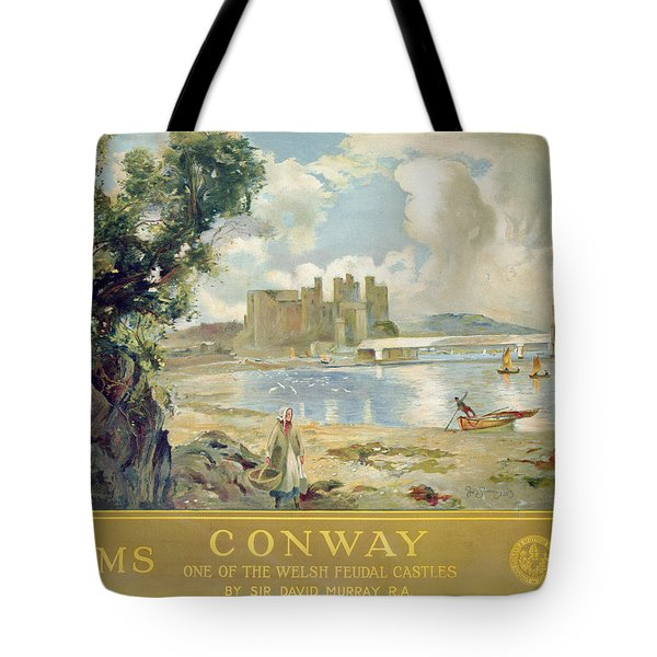 Conway Castle Tote Bag by Sir David Murray