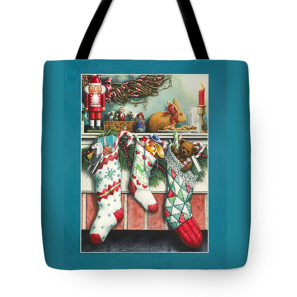 Cookies For Santa Tote Bag by Lynn Bywaters