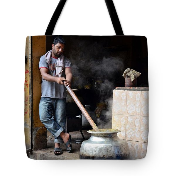 Cooking Breakfast Early Morning Lahore Pakistan Tote Bag by Imran Ahmed
