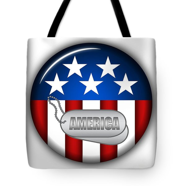 Cool America Insignia Tote Bag by Pamela Johnson