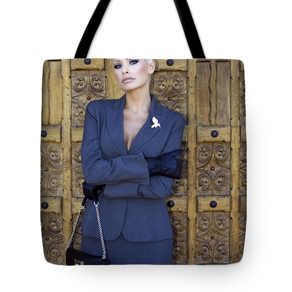 COOL BLONDE Palm Springs Tote Bag by William Dey