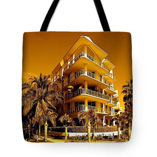 Cool Iron Building In Miami Tote Bag by Monique Wegmueller