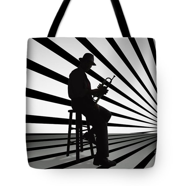 Cool Jazz 2 Tote Bag by Bedros Awak