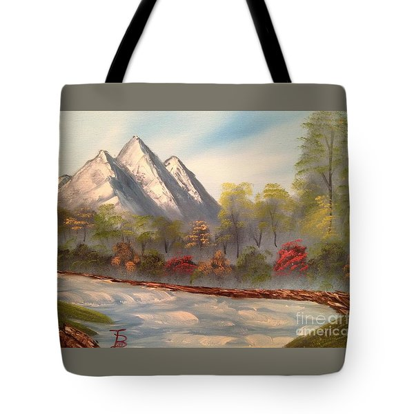 Cool Mountain River Tote Bag by Tim Blankenship
