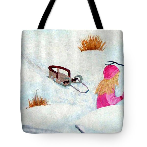 Cool  Winter Friend - Snowman - Fun Tote Bag by Barbara Griffin