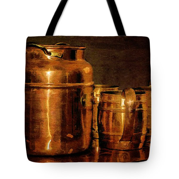 Copper Tote Bag by Lois Bryan
