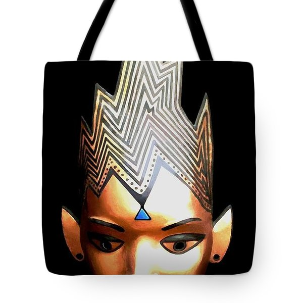Copper Mask Tote Bag by SophiaArt Gallery