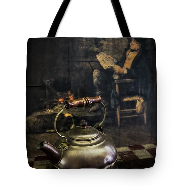 Copper Teapot Tote Bag by Debra and Dave Vanderlaan