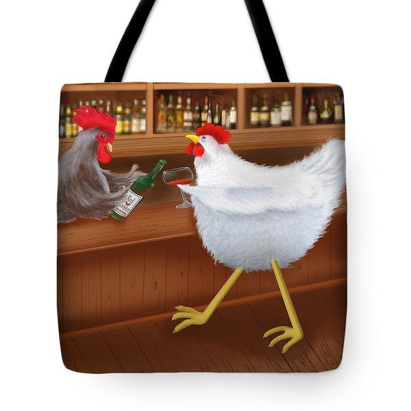 Coq au vin Tote Bag by Marlene Watson