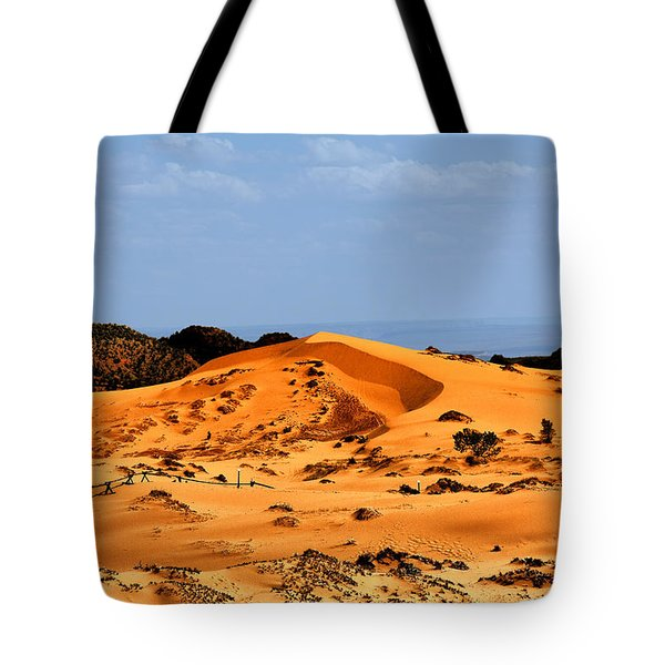 Coral Pink Sand Dunes Utah Tote Bag by Christine Till