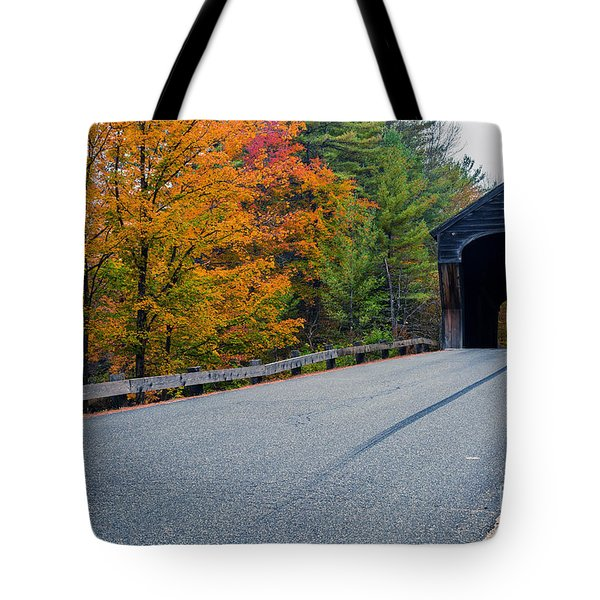 Corbin Covered Bridge Vermont Tote Bag by Edward Fielding